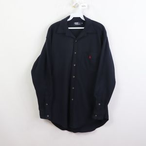 90s Polo Ralph Lauren Mens Medium Fleece Jac Shirt